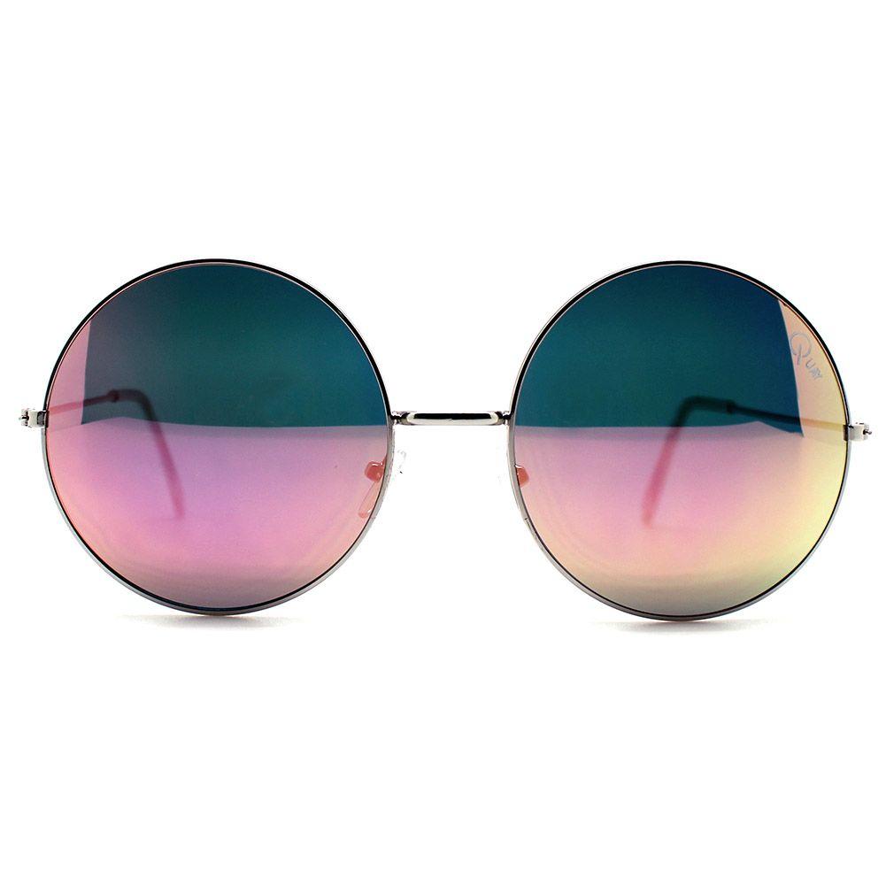 Quay Australia Dynasty Sunglasses in Silver/Pink