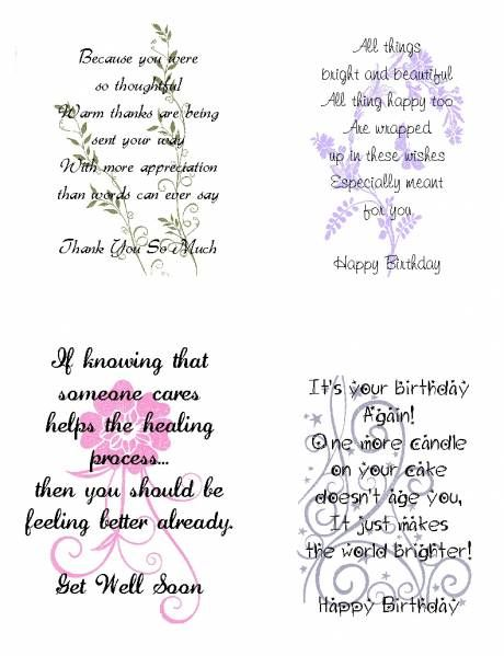 Wording ideas for handmade cards Bible verses and Christian – Birthday Card Sentiments