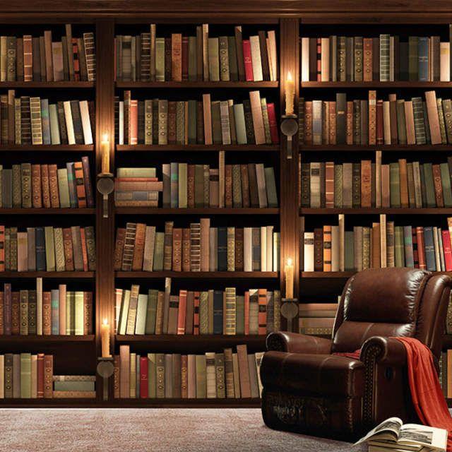 30 Inspirations Living Room Books Wallpaper 3d Desain Desain Banner