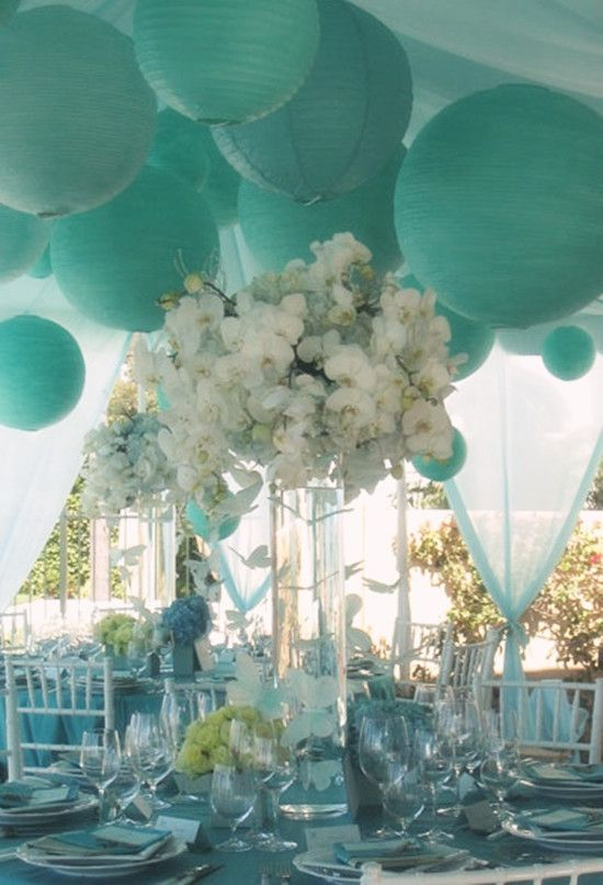 a6aa17d8453 Gorgeous White And Tiffany Blue Wedding | Party | Tiffany blue ...