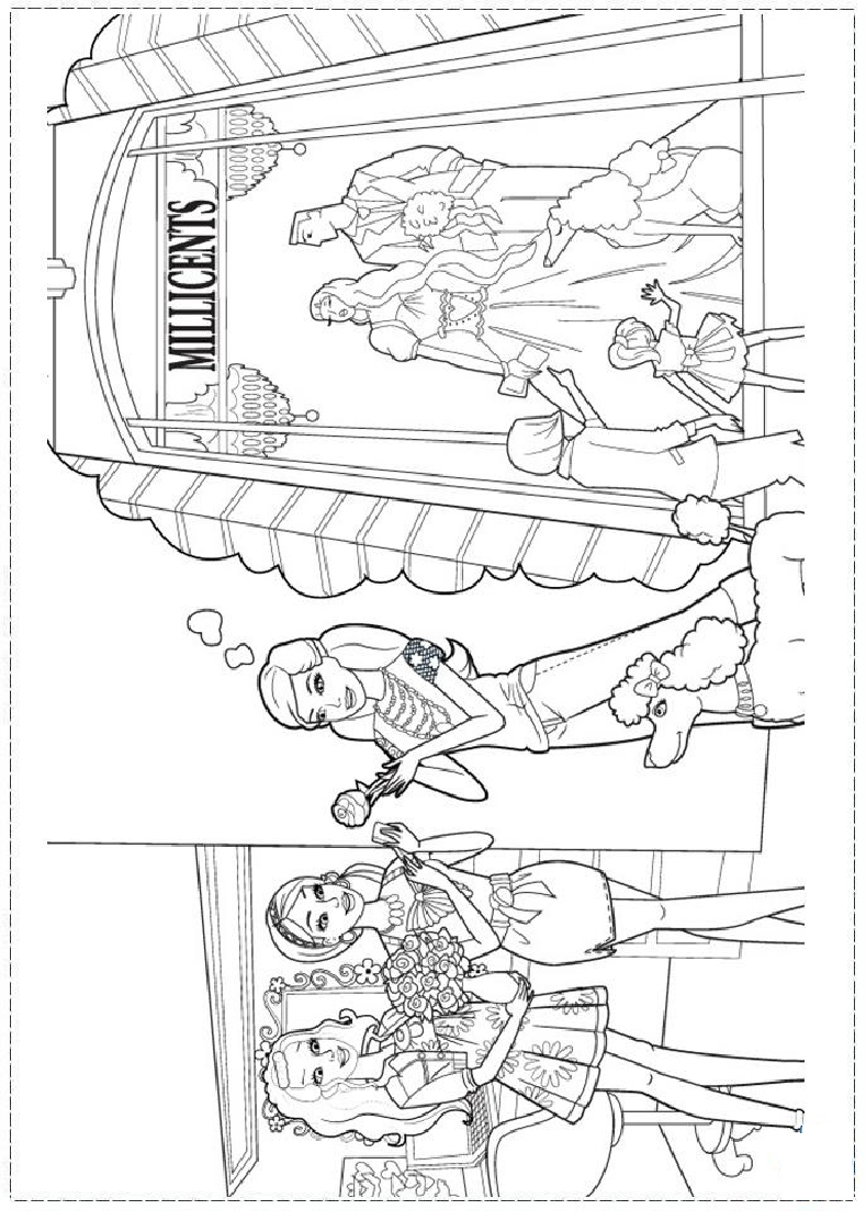 Barbie Fashion Coloring page | Coloring pages and Printables ...