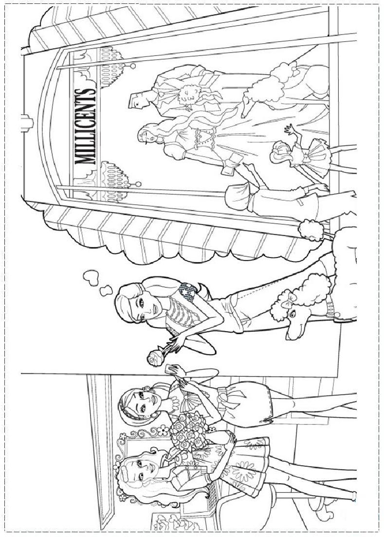 Barbie Fashion Coloring page | Barbie coloring pages ...