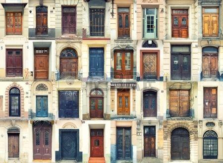 Collection de vieilles portes en bois et m tal Banque d'images
