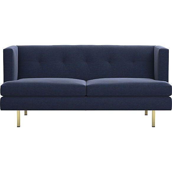 Avec Apartment Sofa With Brass Legs Bedroom Sofa Sofa