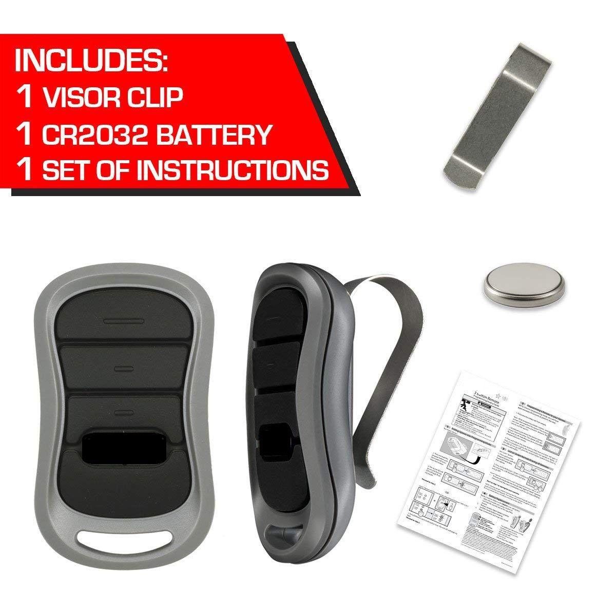 G1t Bx Compatible Genie 3 Button Mini Keychain Intellicode Remote 38501r 2 Pak Garage Door Opener Remote Garage Door Controller Garage Door Remote