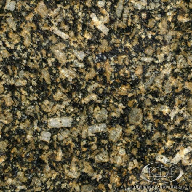 Amarello Boreal Granite Is A Black And Gold Natural Stone Used For Kitchen  Countertop Surfaces.
