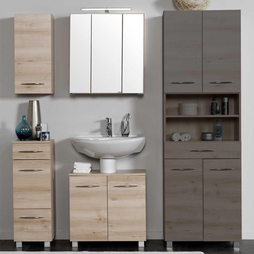 Elegant Badezimmer Set Mit Spiegelschrank Buche (3 Teilig) Jetzt Bestellen Unter:  ...