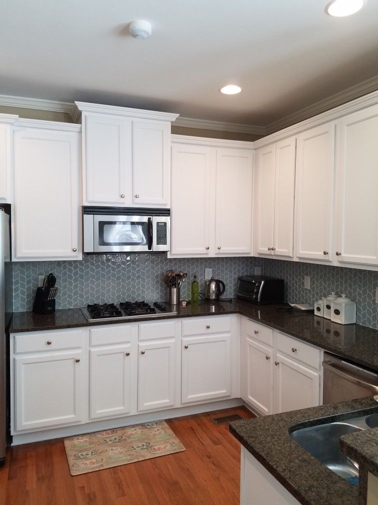 Favorites Color From Benjamin Moore Distant Grey For These Cabinets