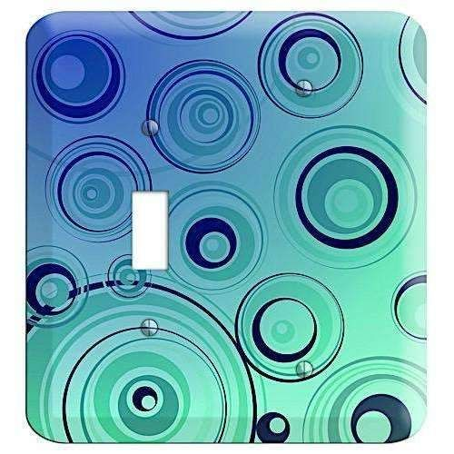 Blue and Green Circles Cover Plates Toggle / Blank Wallplate