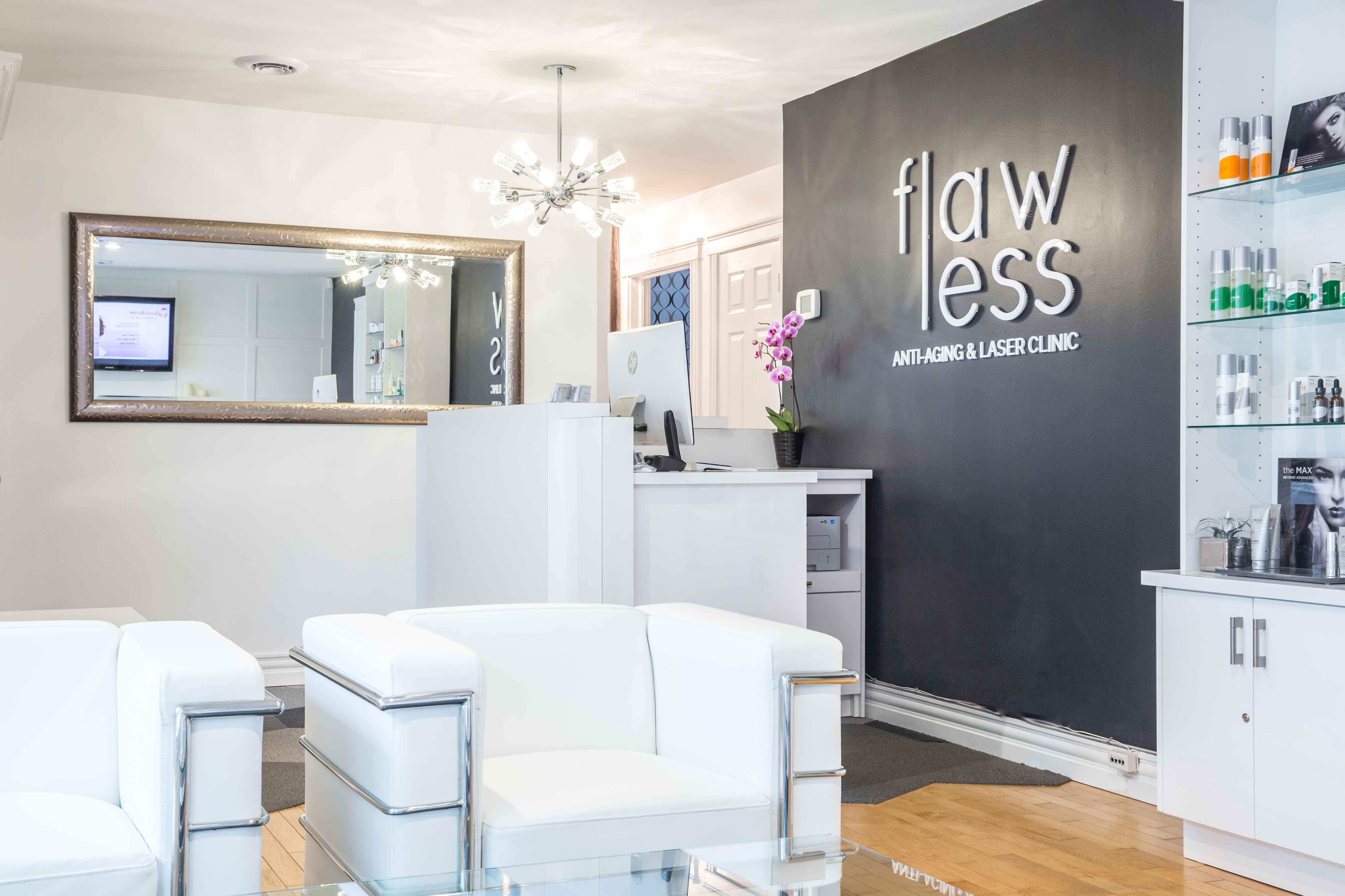 Flawless Medical Spa Design   Front Desk - Reimagine Designs