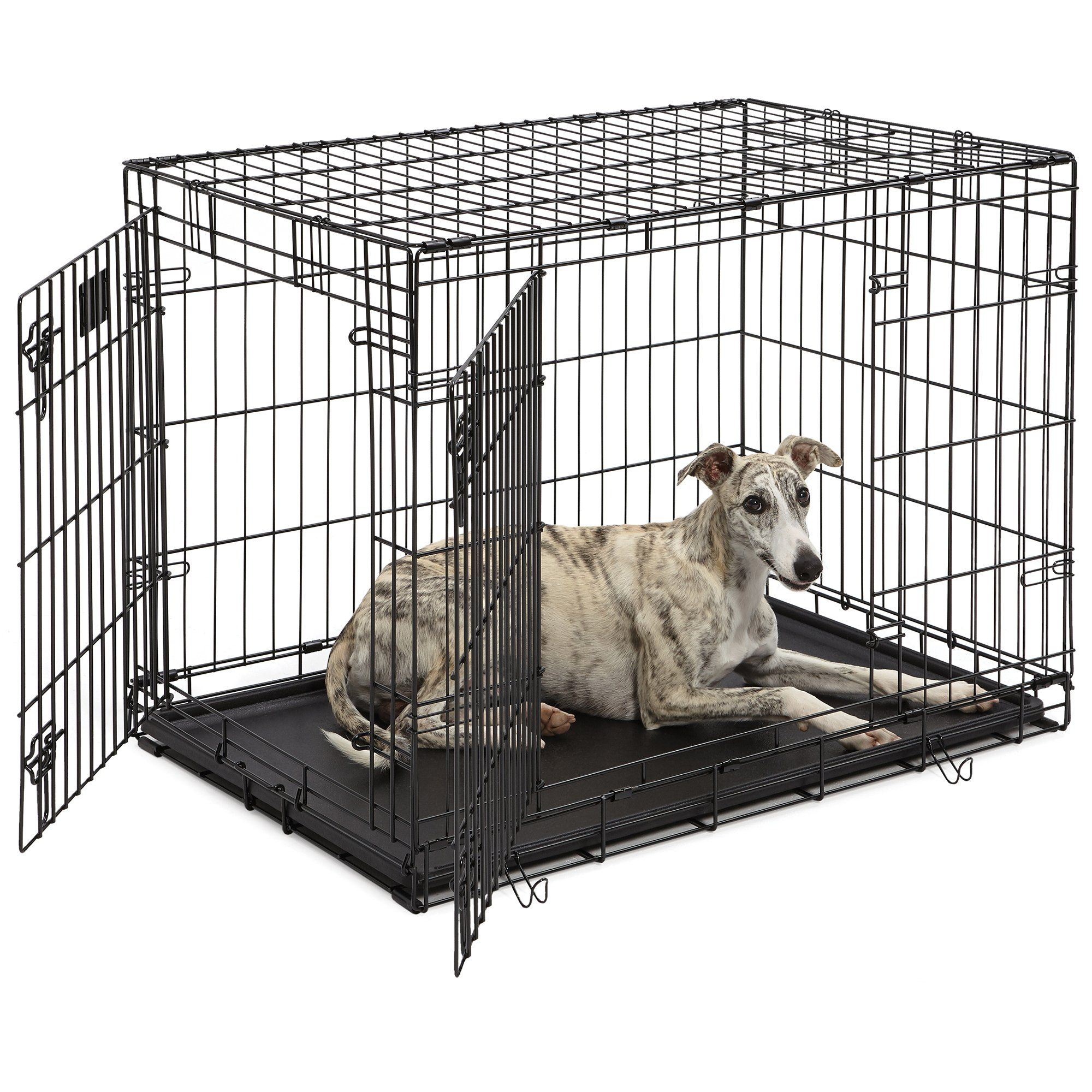 Midwest Lifestages Double Door Fold Carry Crate 36 L X 24 W X