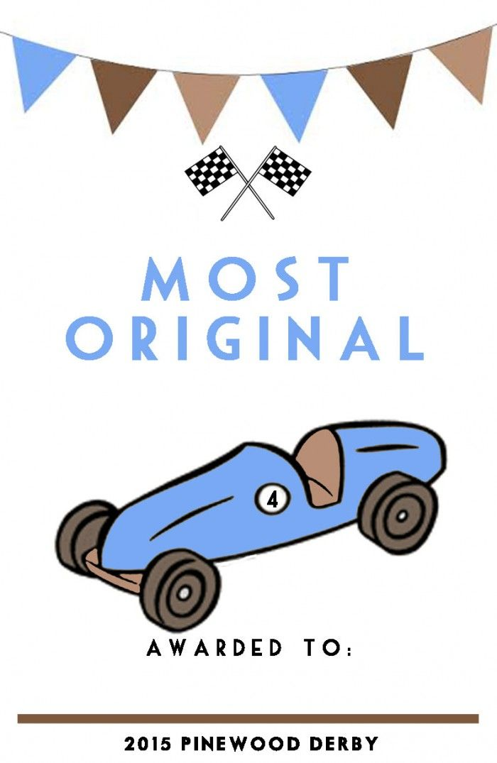 Pinewood Derby Certificates Free Printables