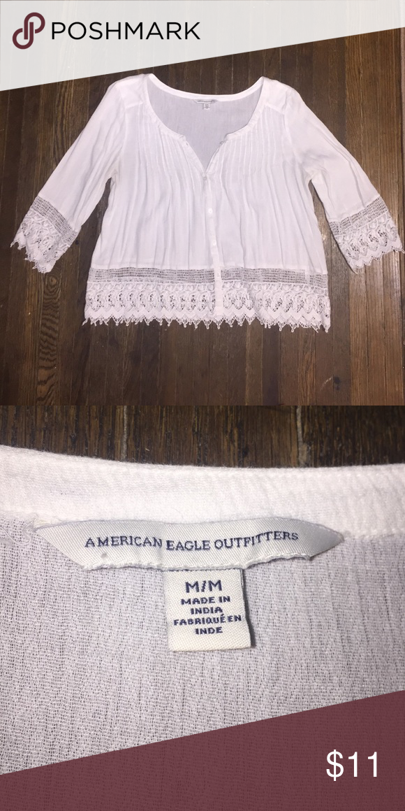 American Eagle Blouse Worn a few times but it's in great condition, no signs of wear American Eagle Outfitters Tops Blouses
