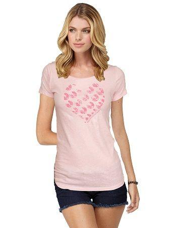 アイコンスクープネックTシャツのハート