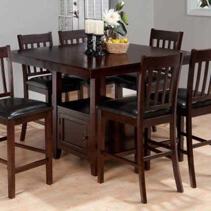 Jofran Tessa Counter Height Dining Table With Storage At Hayneedle Impressive Pub Height Dining Room Sets 2018