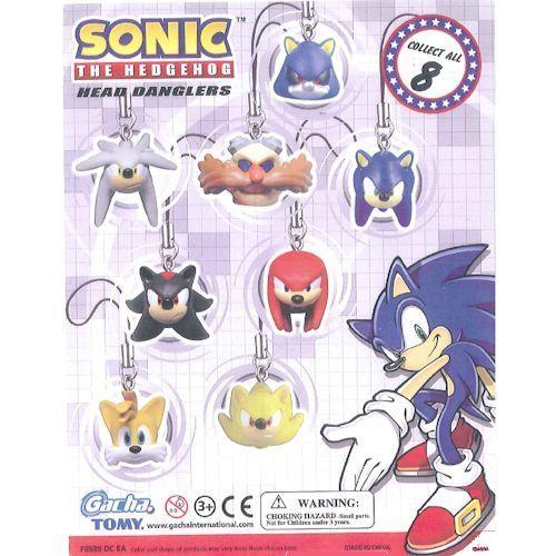 Gacha Tomy Sonic the Hedgehog Head Danglers Complete set of 8