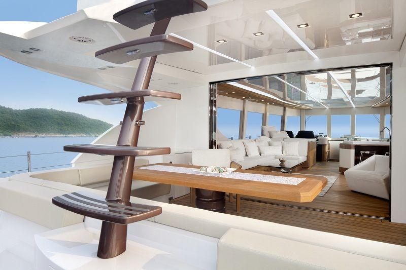 white design yacht interior