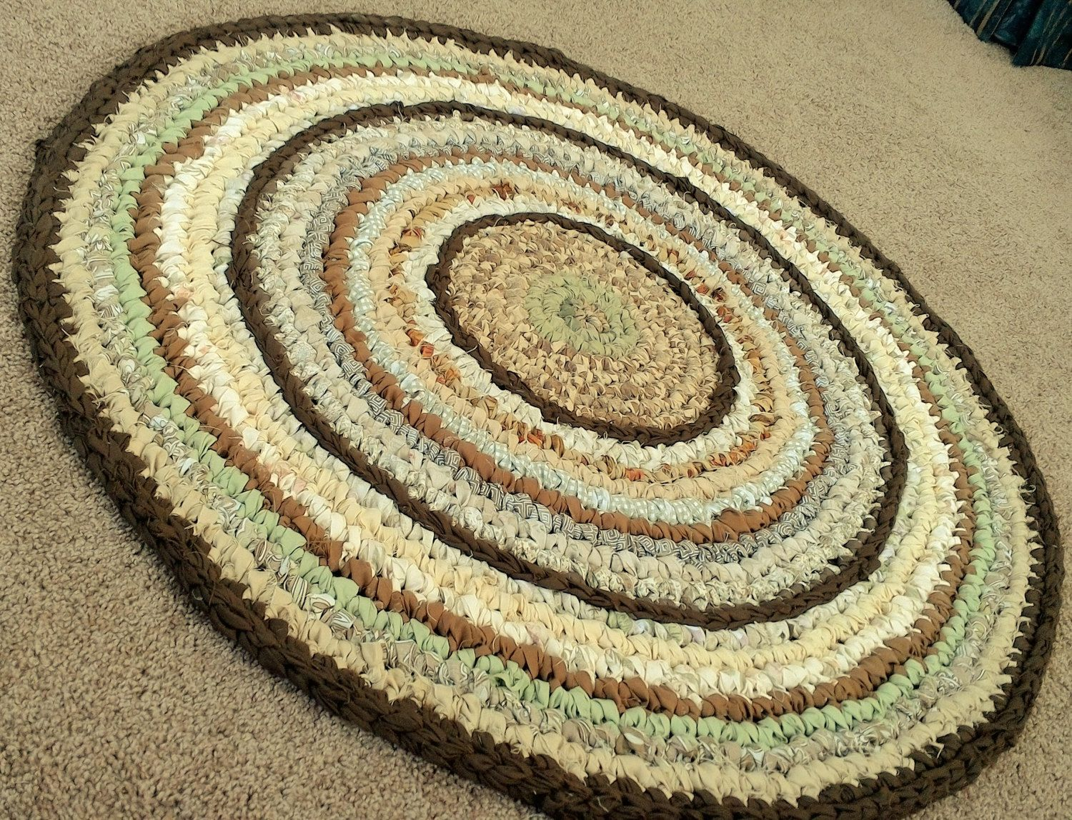 MultiColored 3' Round Rag Rug by 10whisperingfriends on
