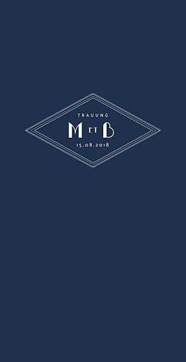 Menukarte Monogramm Blau Von Tomoe Fur Rosemood De Rosemood