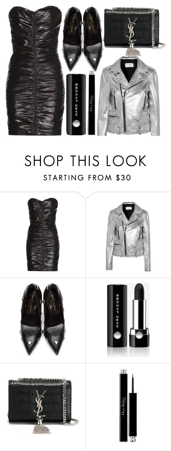 """""""street style"""" by sisaez ❤ liked on Polyvore featuring Yves Saint Laurent, Marc Jacobs and Christian Dior"""