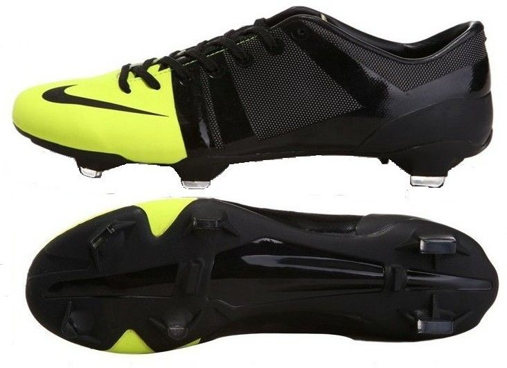67a175faa89 Nike GS Green Speed FG Mens Firm Ground Soccer Cleats With Volt and Black