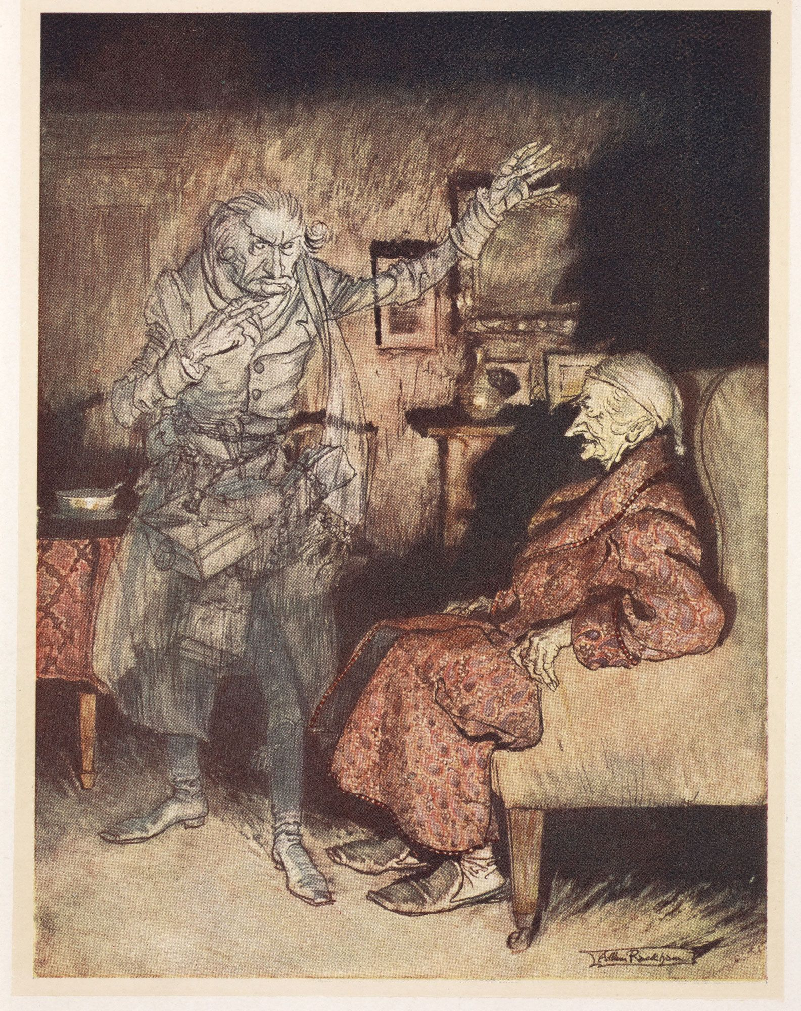 Αποτέλεσμα εικόνας για christmas carol illustrated by arthur rackham