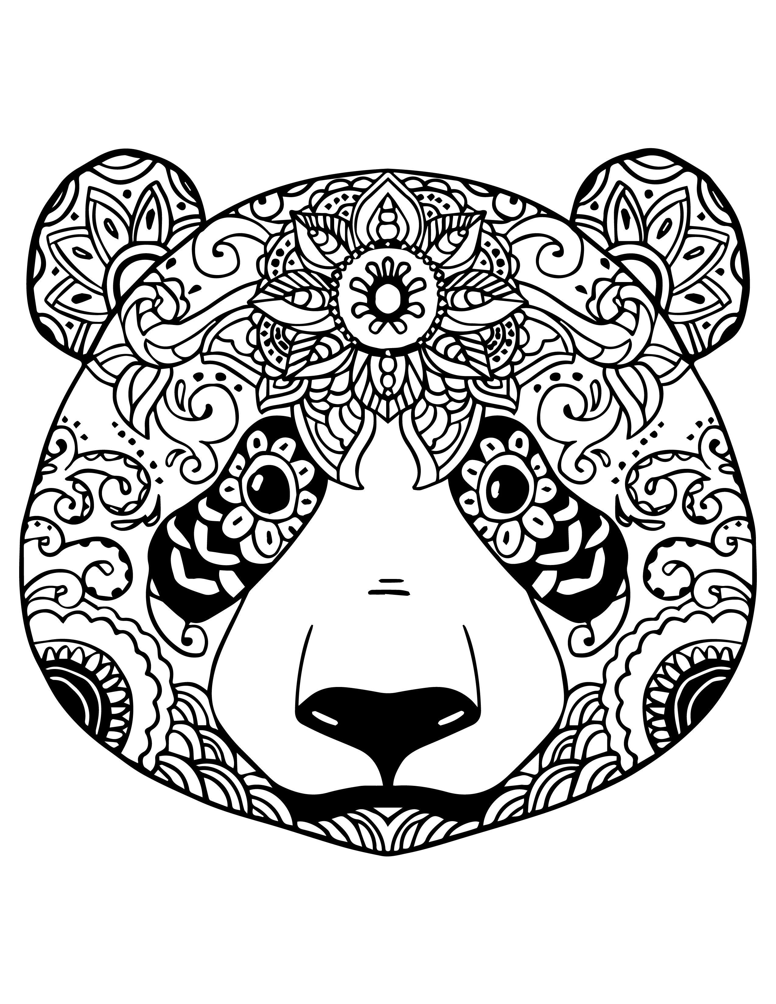 Mandala Animaux Simple Coloriage De Emoji A Imprimer ...