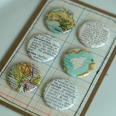 makes me want a button maker    | inspiration | Button maker, How to
