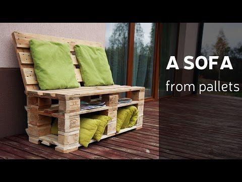 Bancali mobili ~ Come realizzare un divano con pallet mobili con pallet mobili