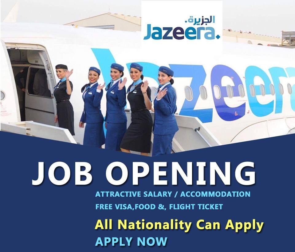 Jazeera Airways Jobs Accommodation Free Visa Ticket Benefits Click Here To Apply Airline Jobs Job Opening Job Seeker
