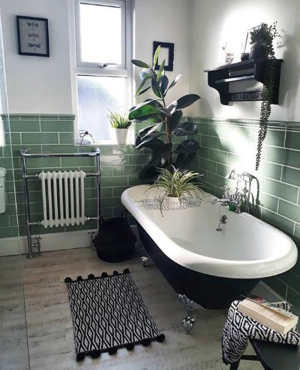 Bathroom Inspiration Green Tiles In 2020 Bathroom Design Luxury Bathroom Interior Design Green Bathroom