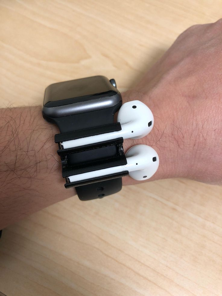 Airpods Holder For Apple Watch Band Airpods Apple Applewatch