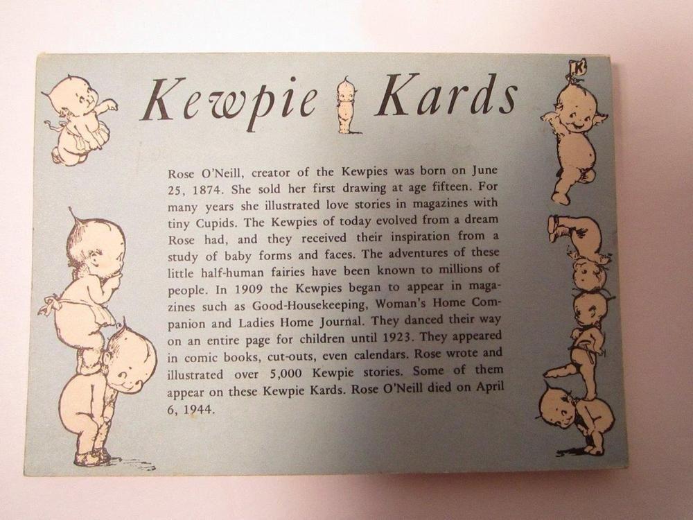 Kewpie Doll Card Book Kewpie Kards Postcard Book Vintage Posctards #kewpiedolls #postcards #dolls
