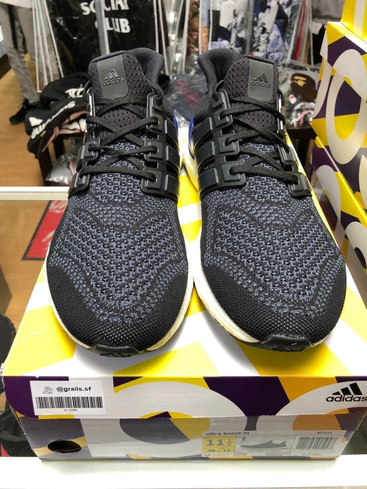 0a0c8e228 Adidas Ultra Boost 1.0 OG Black Gold Purple (B27171) size 11.5