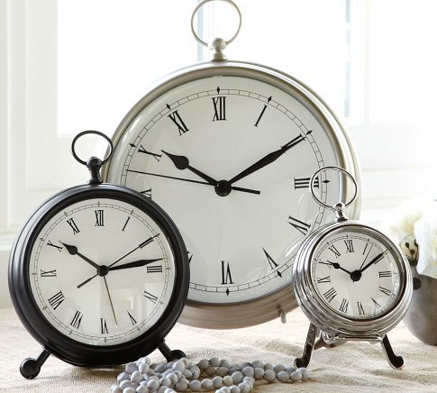 Pocket Watch Clock #potterybarn