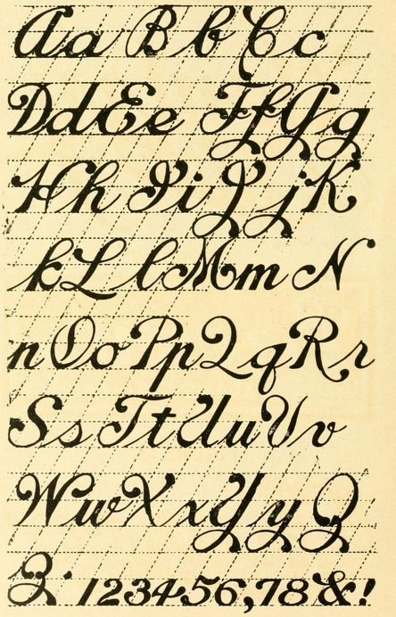 From the public domain ebook calligraphy lettering