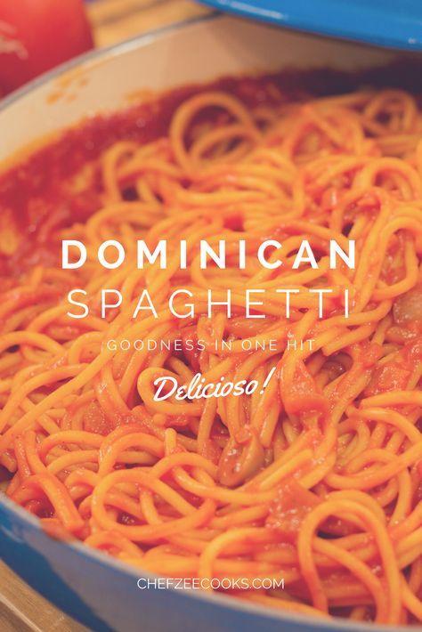 Dominican Spaghetti  Made To Order  Chef Zee Cooks  Receta  Pasta  Pinterest  Recetas de espaguetis Recetas y Recetas de pastas