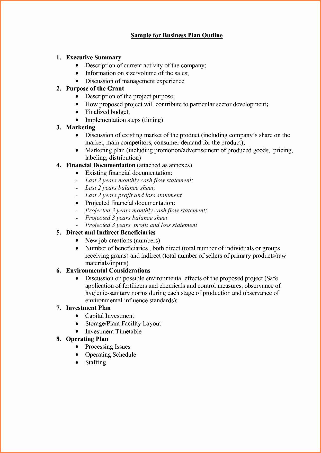 Business Proposal format Template Fresh 5 Business Plan
