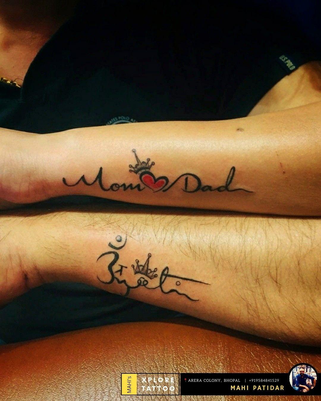 Couple Maapaa Name Freehand Tattoo Design Mahi Patidar Xplore Tattoo Studio Bhopal 919584841529 In 2020 Tattoo Designs Wrist Hand Tattoos Cute Tattoos For Women