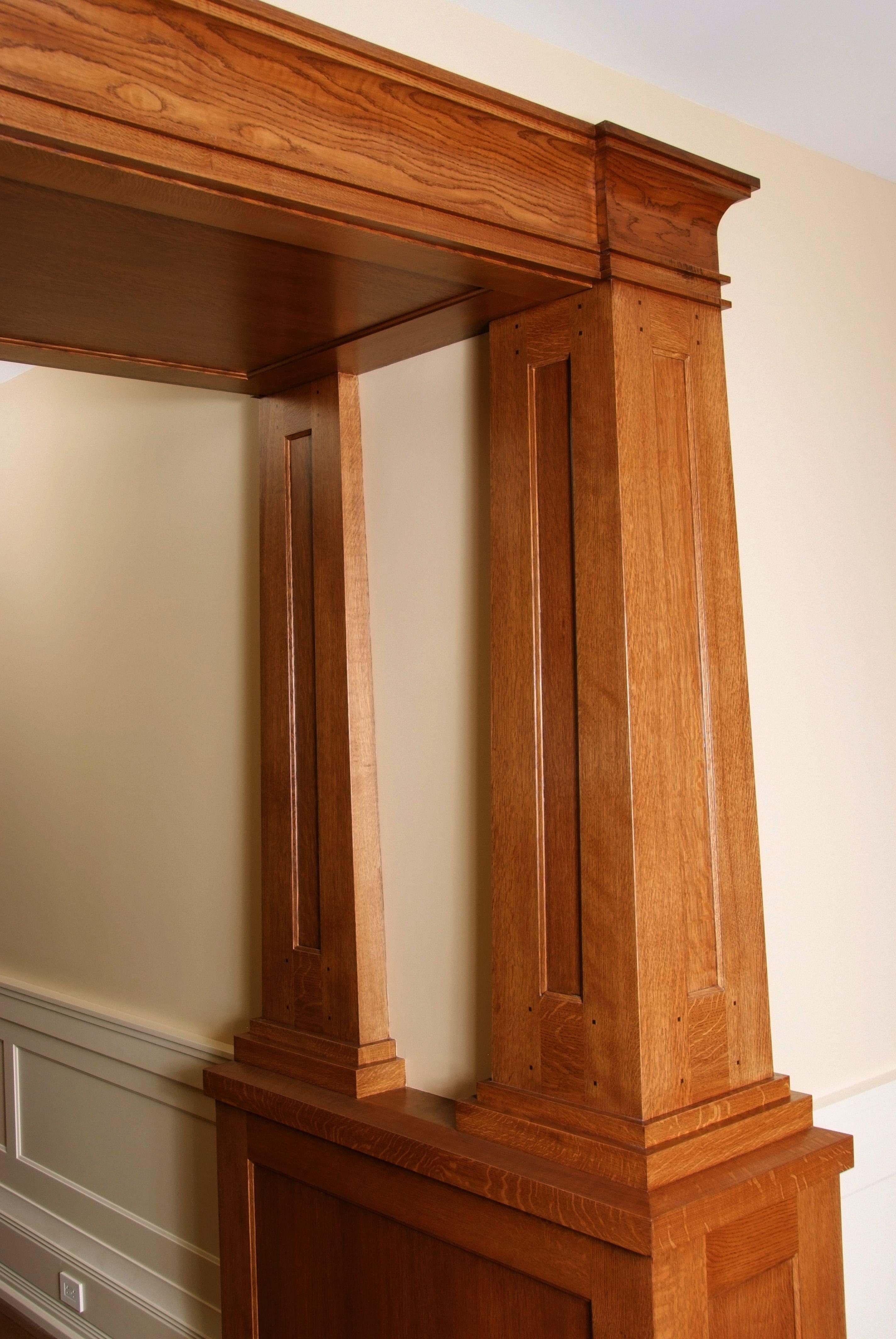Panel quarter sawn white oak interior door craftsman interior doors - Custom Quarter Sawn White Oak Interior Columns