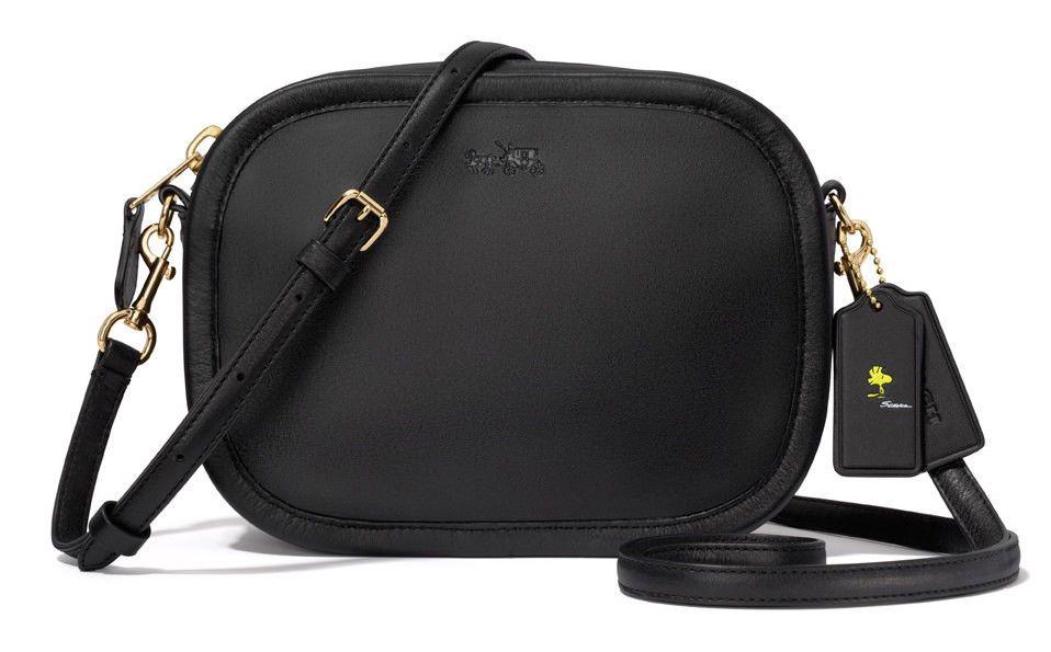 655e5d2e6 NWT Coach X Peanuts Snoopy Mini Zip Around Leather Crossbody-Black Bag RARE  !! #Coach #MessengerCrossBody