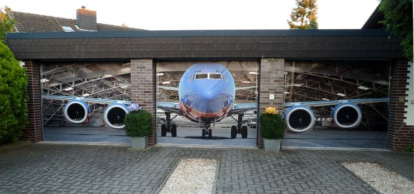 Jumbo Jet Triple Garage Door Skin