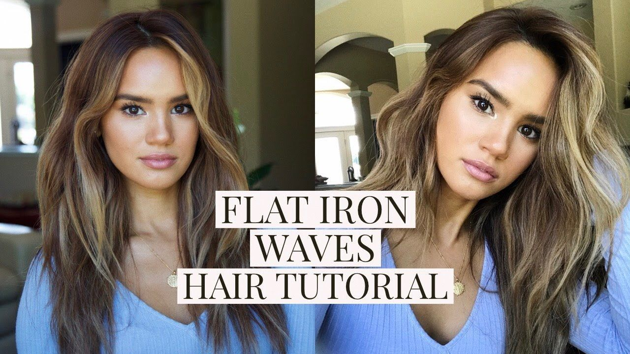 Flat Iron Beach Waves Hair Tutorial Dacey Cash Beach Waves Hair Tutorial Waves Hair Tutorial Hair Waves
