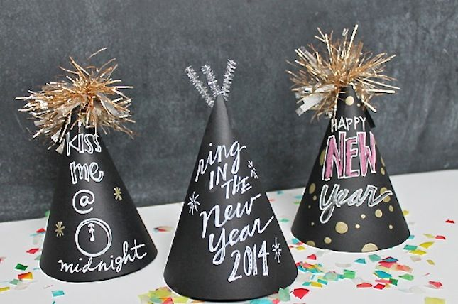 Let guests decorate their own chalkboard party hat.