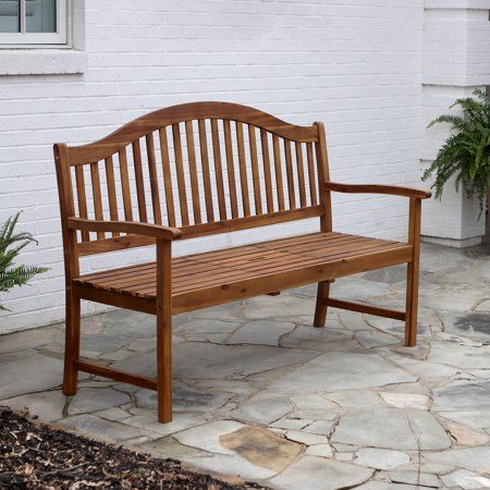 Incredible Oasis Outdoor Wood Bench With Center Table Brown In 2019 Short Links Chair Design For Home Short Linksinfo