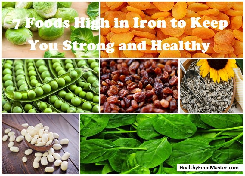7 foods high in iron to keep you strong and healthy