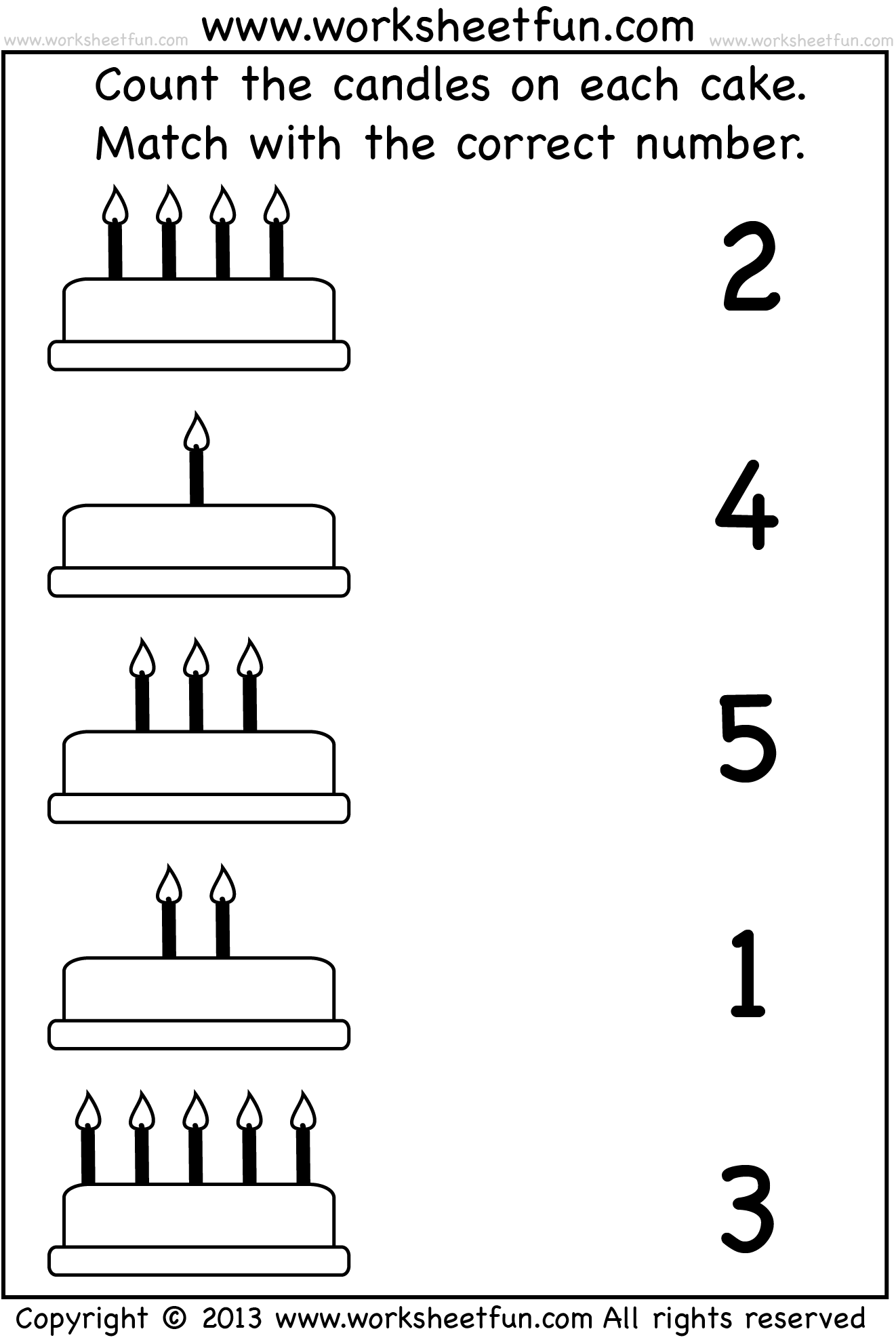 medium resolution of count-and-match_cake_wfun_1.png 1.322×1.982 píxeles   Preschool math  worksheets