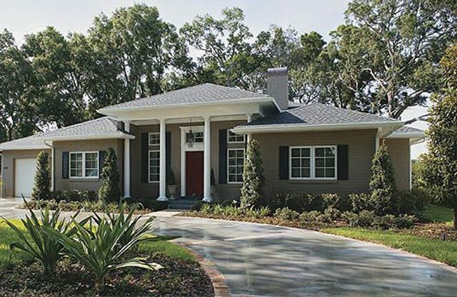 ranch style house remodel before after around the house rh pinterest com ranch style house exterior paint colors Exterior Paint Color Combinations