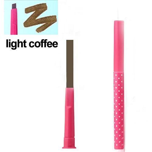 Rotierender langlebiger Eyeliner-Stift Augenbrauen-Augenbrauen-Bleistift-Make-up-Schönheits-Werkzeug – leichter Kaffee