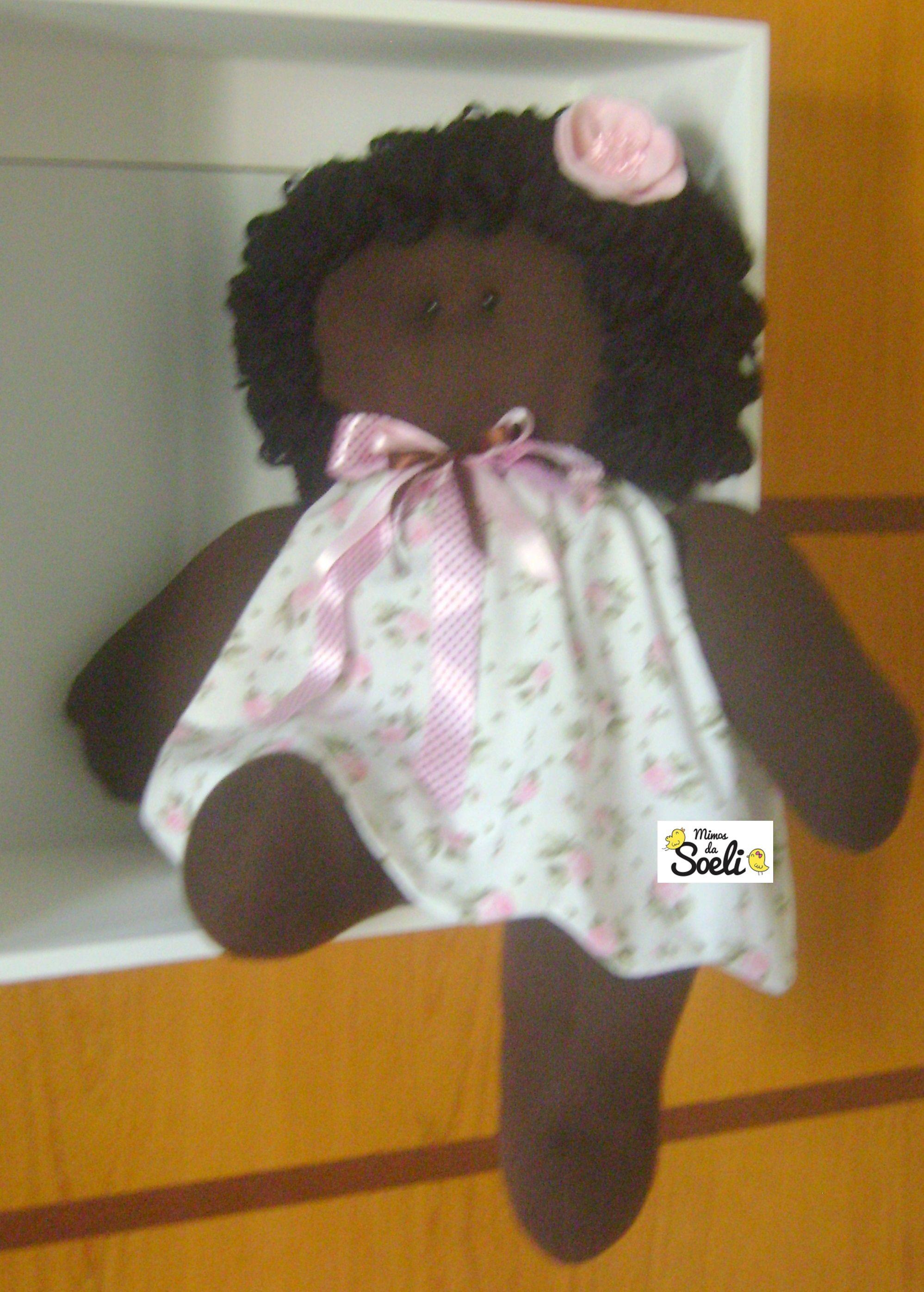 Boneca Negra Florzinha